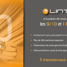 Portes Ouvertes Lintech France du 09 au 11 Octobre 2018 !